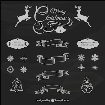 Retro design elementy świąteczne