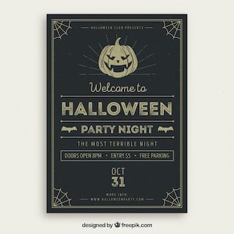 Retro halloween plakat strony
