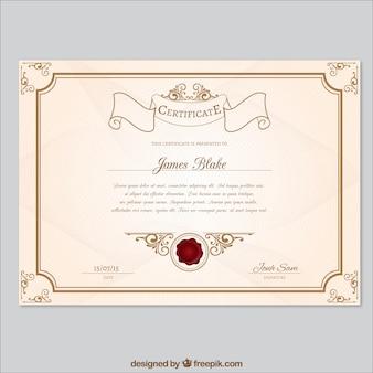 Retro szablon certyfikatu