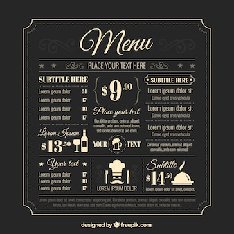 Retro szablon menu