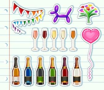 Różne rodzaje napojów na imprezie