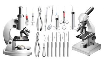 Różne urządzenia medyczne i narzędzia