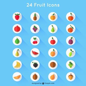 Różnorodność ikony owocowych