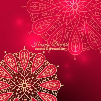 Różowa mandala diwali