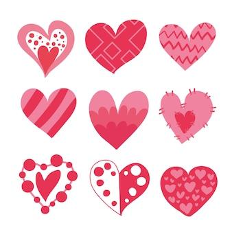 Różowe serca kolekcji