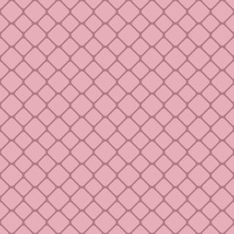 Różowy abstrakcyjna bezszwowych zaokrąglone kwadratowych siatki wzór tła projektu - wektorowe projekt graficzny