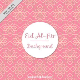 Różowy geometryczne tle Id al-Fitr