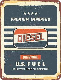 Rocznik cyny oleju silnika znak