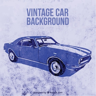 Rocznika samochodu na tle grunge