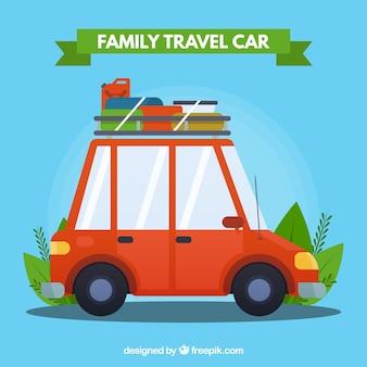 Rodzina podróży samochodem