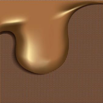 Rozpuszczoną czekoladę ilustracji wektorowych