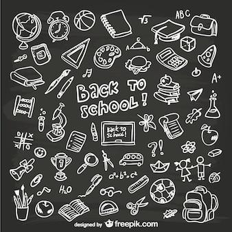 Rysowane ręcznie grafiki szkolne