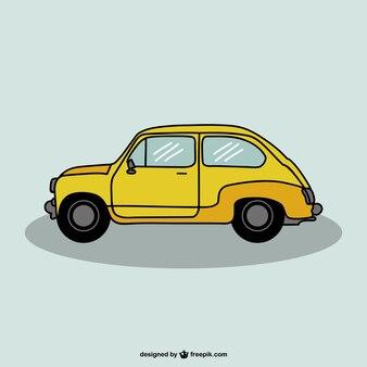 Rysunek konstrukcji wektora samochód