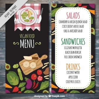 Słodkie menu wegańskiej restauracji