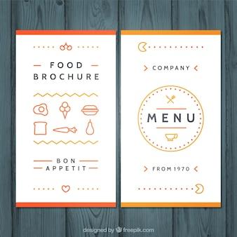 Słodkie menu z ikonami