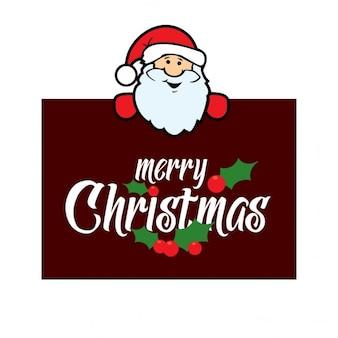 Santa Claus gospodarstwa kartki świąteczne
