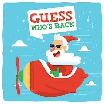 Santa latania z płaszczyzną