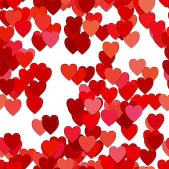 Serce czerwone tło wzór