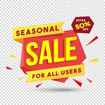 Sezonowy papier banerowy sprzedaży lub projekt tagu.