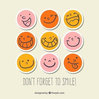 Smiley naklejki