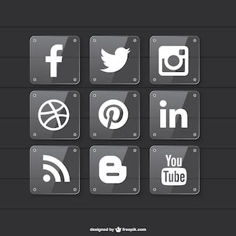 Social media projekt przezroczysty materiał