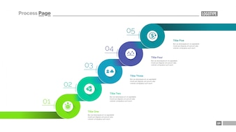 Spójne szablony slajdów kroków
