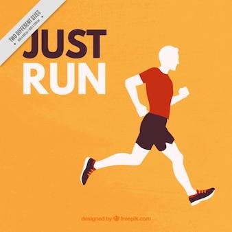 Sport tle sylwetka biegacza