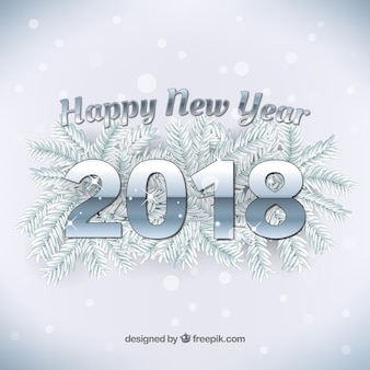 Srebrny nowy rok 2018 tło