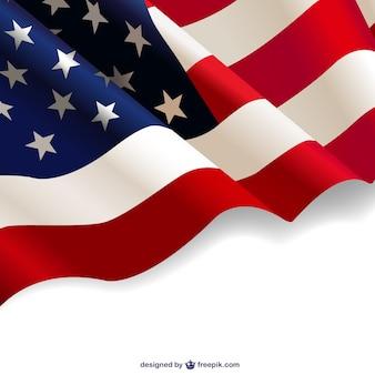 Stany zjednoczone tle powiewają flagi darmo