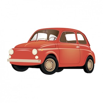 Stary czerwony samochód