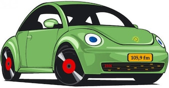 Stary zielony samochód wektora