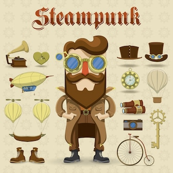Steampunk charater