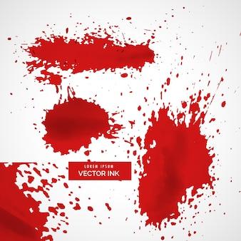 Streszczenie czerwony tusz splatter tekstury tła