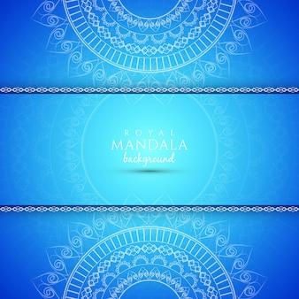 Streszczenie dekoracyjne elegancki niebieski mandala tle