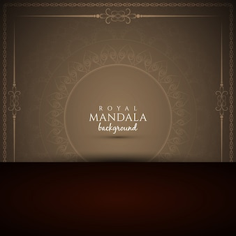 Streszczenie elegancki królewski mandala tle