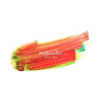 Streszczenie kolorowe akwarelowy plama projektu
