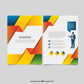 Streszczenie kolorowe korporacyjnych broszury