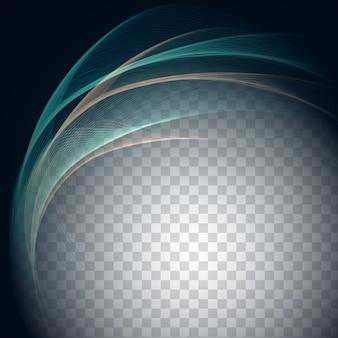 Streszczenie stylowy fali wzór na przejrzystym tle