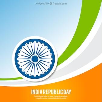 Streszczenie tle indie republika dni
