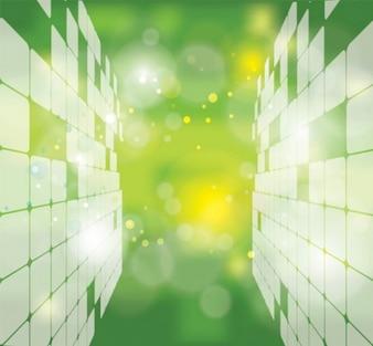 Streszczenie zielonym futurystyczny ilustracji wektorowych