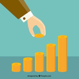 Strony wprowadzenie monety do pieniędzy klatka schodowa