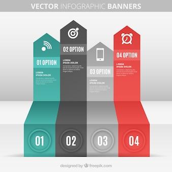 Strzałek banery infografika