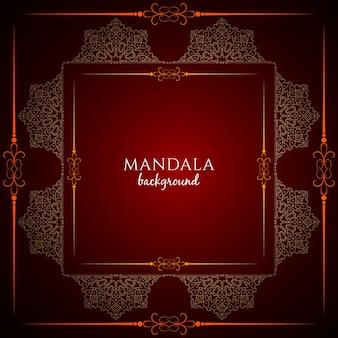 Stylowy elegancki piękny projekt mandali