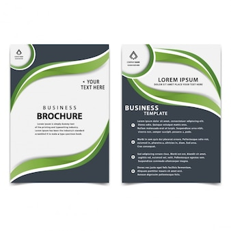 stylowy szablon broszura biznes
