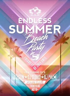 Summer Party plakat projekt