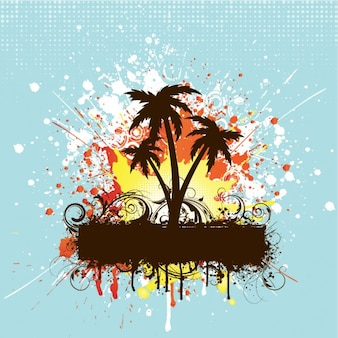Summertime Party Background