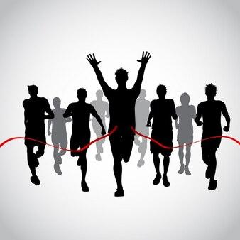 Sylwetki mężczyźni wyścigów