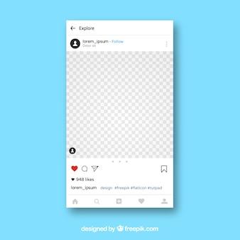 Szablon aplikacji Instagram