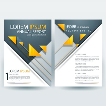 Szablon broszury firmy z pomarańczowym trójkąty