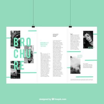 Szablon broszury o klasycznym stylu